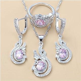 مجموعة مجوهرات للنساء لحفلات الزفاف مجموعة مجوهرات مجوهرات هدايا للنساء يانجين (اللون : 3 قطع، الحجم: 9)