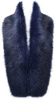Changuan Women's Winter Faux Fox Fur Collar Long Scarf Wrap Shawl Shrug