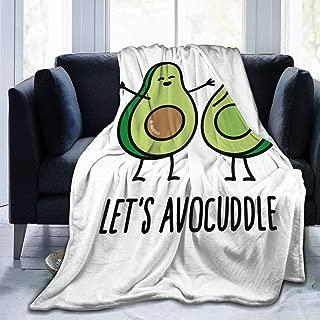 HTSS Let's Avocuddle Ultra Soft Flannel Fleece Blanket All Season Living Room/Bedroom Warm Throw Blanket Bed Blankets