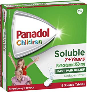 Panadol Children Soluble 7+ Years Tablets, 16 count