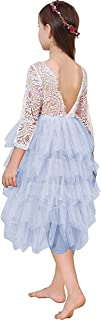 Lace Back Flower Girl Dress,Kids Cute Backless Dress Toddler Party Tulle Tutu Dresses for Baby Girls Dress !