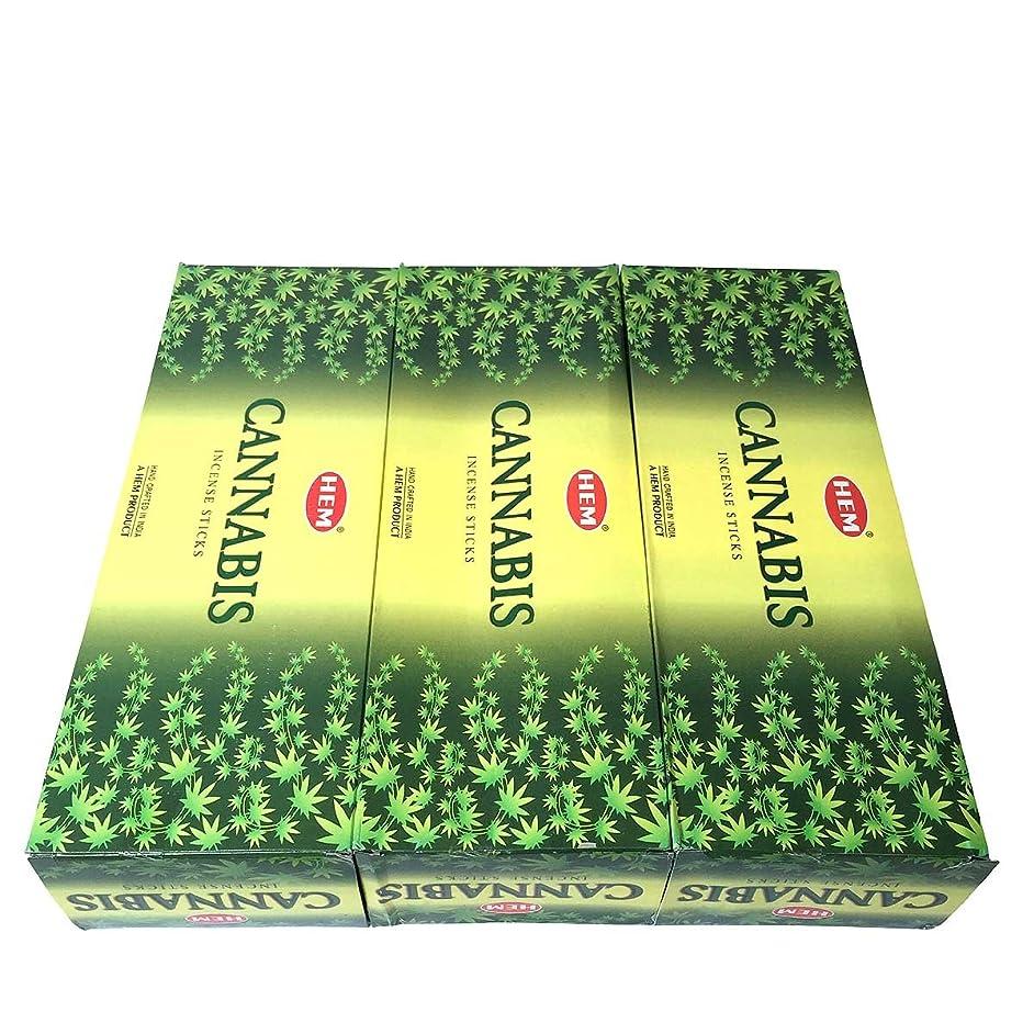 規範辞任する誘導カナビス香スティック 3BOX(18箱) /HEM CANNABIS/インセンス/インド香 お香 [並行輸入品]