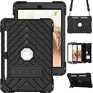 """A-BEAUTY Case for iPad 8/7 (10.2"""" 2020/2019 Model, 8th / 7th Generation), with [Screen Protector] [Shoulder Strap] [Shockp..."""