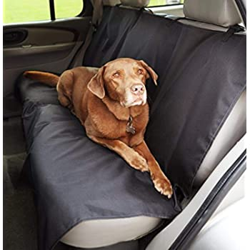 AmazonBasics Waterproof Car Back Bench Seat Cover Protector for Pets - 56 x 47, Black
