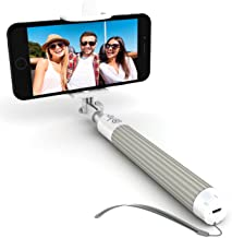 Premium 5-in-1 Bluetooth Selfie Stick for iPhone 11 10 XR XS X 8 7 6 5, Samsung Galaxy S10 S9 S8 S7 S6 S5 & Most Androids - Takes Perfect HD Photos in Seconds - No Apps, No Downloads, No Hassle