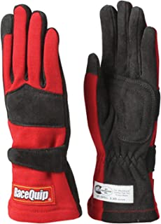 RaceQuip 355015 355 Series Large Red SFI 3.3/5 Two Layer Racing Gloves