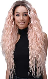 Bobbi Boss Human Hair Blend Extreme Part Dual Styling Lace Front Wig MBLF280 IVANA (1B [Off Black])