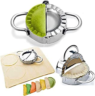 Dumpling Maker - Dumpling Press/Stainless Steel Empanada Press/Pie Ravioli Dumpling Wrappers Mold Kitchen Accessories (7.5cm)