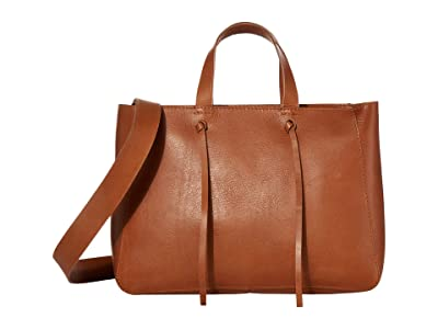 Madewell The Elsewhere Tie Crossbody Tote (Burnished Caramel) Handbags