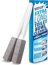 IMPRESA Pumice Stone Toilet Bowl Cleaner with Extra Long Handle, 2 Pack! - Limescale Remover - 100% Natural Pumice Toilet Brush - Also Cleans BBQ Grills, Tiles, Tile Grout, Swimming Pools