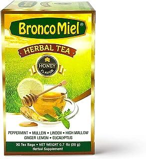 Sponsored Ad - BRONCOMIEL Tea Bags – Honey Herbal Tea for Coughing and Soreness – Eucalyptus, Ginger and Lemon Tea – Sweet...