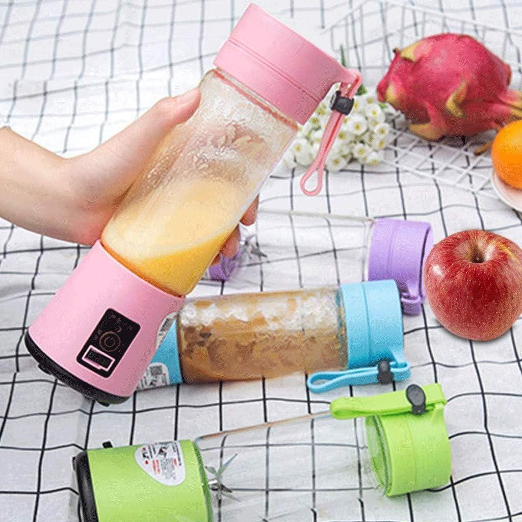 ECSWP Exprimidor - Jugo de Copa portátil USB Recargable Blender, Blender Pequeño Formato Individual, Personal Tamaño del Viaje Blender Blender exprimidor Copa (Color : Purple) Pink