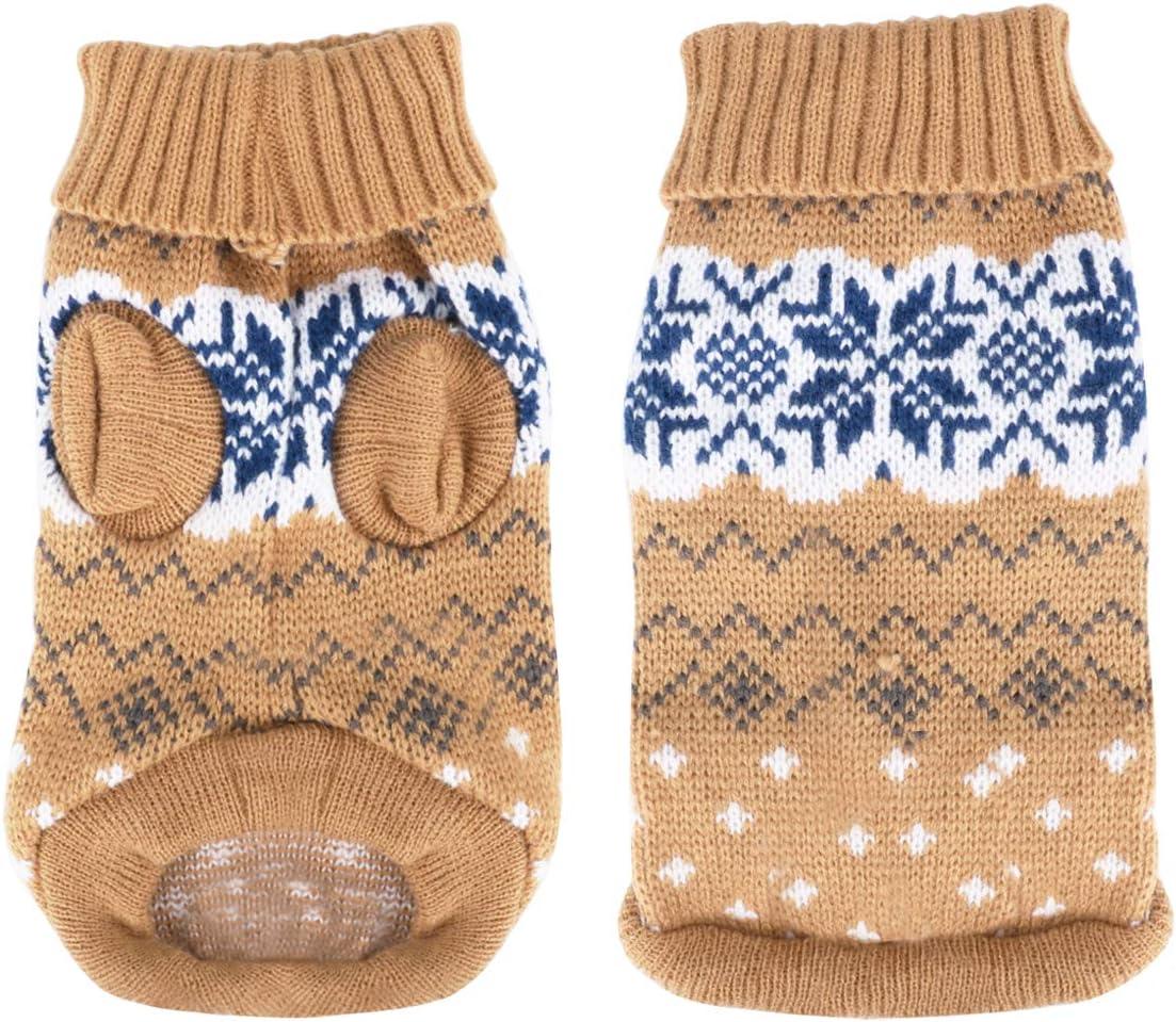 Idepet Suéter para perros y mascotas,ropa de invierno cálida para perros y gatos,cómodo abrigo para mascotas,disfraz para cachorros,jersey para gatitos,ropa para perros pequeños,medianos,grandes,gatos