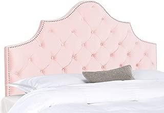 Safavieh Home Collection Arebelle Blush Pink Velvet Tufted (King) Headboard,