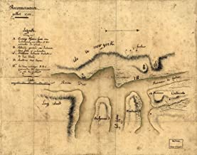 1781 Map of Reconnoissance, juillet 1781. Hell Gate, New York, New York City, United States