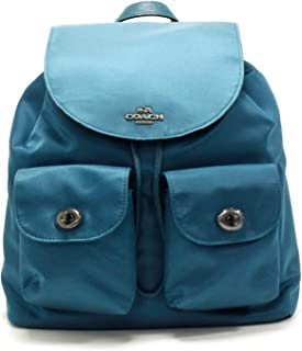 Coach Nylon and Leather Backpack Tote