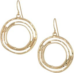 Metal Orbit Drop Earrings