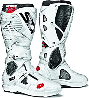 Sidi Crossfire 3 SRS Off Road Motorcycle Boots White US9.5/EU43 (More Size Options)