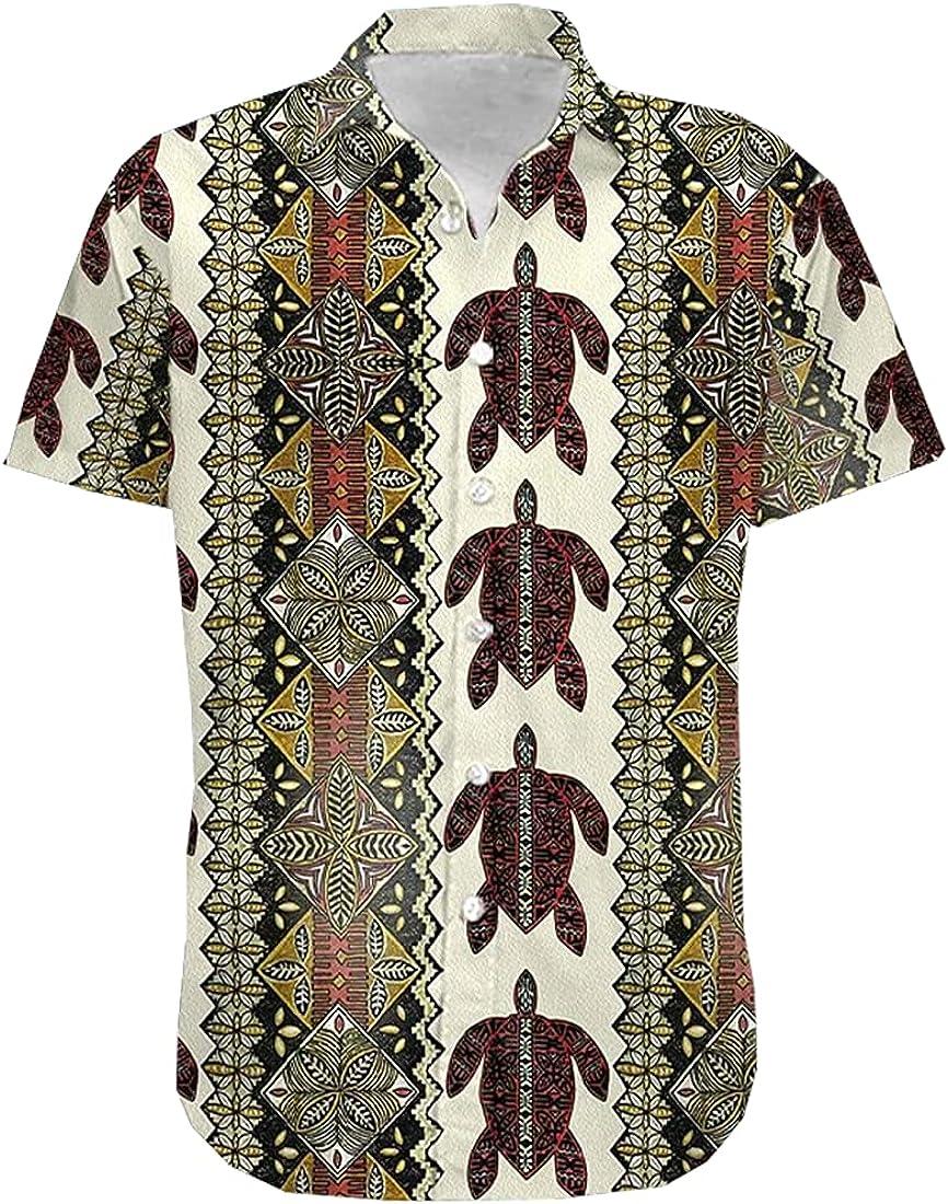 Turtle Hawaiian Shirts for Men - Button 100% quality warranty New sales Summer Down Mens Hawaiia