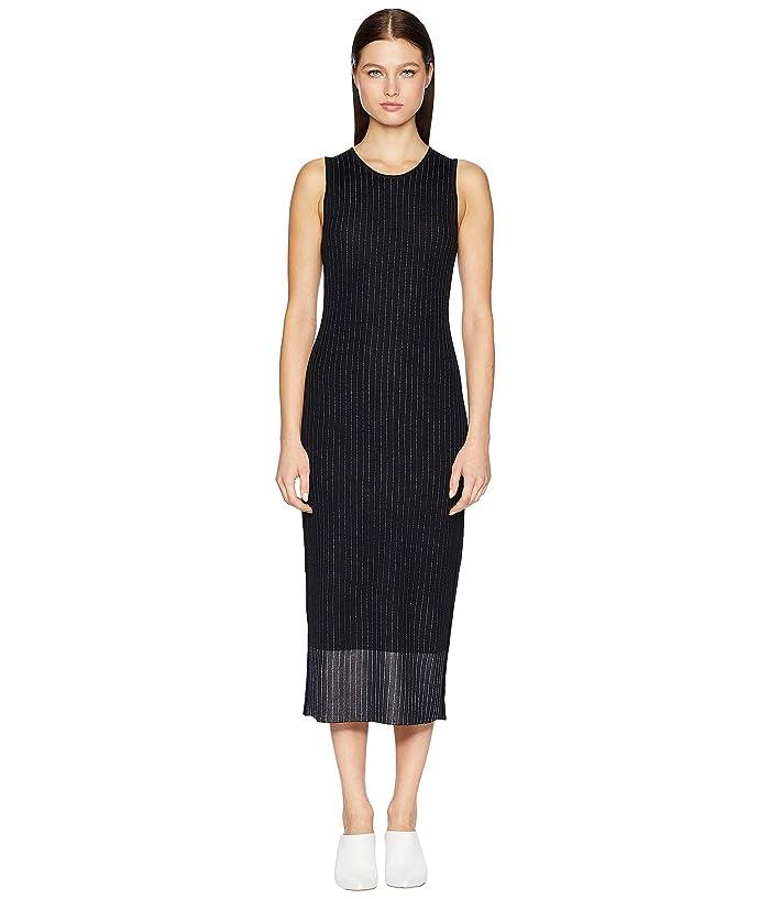 GREY Jason Wu Empire Yarn Fine Merino Knit Dress (Black/Star White) Women
