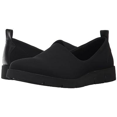 ECCO Bella Slip-On (Black/Black Textile/Cow Leather) Women