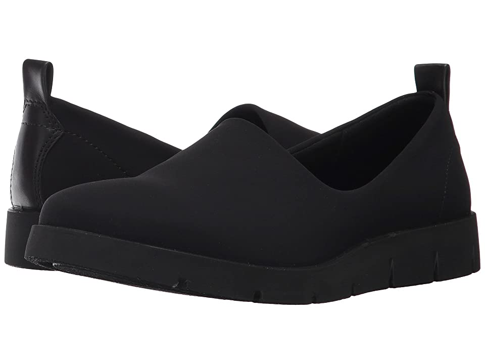 ECCO Bella Slip-On (Black/Black Textile/Cow Leather) Women