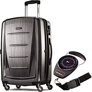 56846-1174 Winfield 2 Fashion HS Spinner 28 Inch - Charcoal Bundle with Manual Luggage Scale