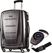 Samsonite 56846-1174 Winfield 2 Fashion HS Spinner 28 Inch - Charcoal Bundle with Manual Luggage Scale