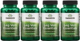 Swanson Leg Vein Essentials - Delayed Release 60 Veg Drcaps 4 Pack