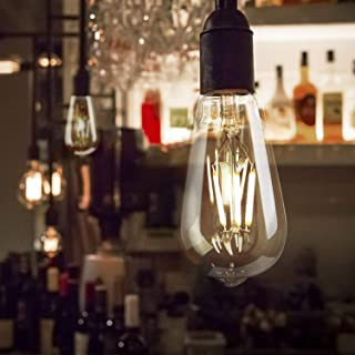 6 Pack LED Edison Bulbs, Dimmable 6 Watt LED Vintage Light Bulbs 60 Watt Equivalent, E26 Base Antique Filament Bulbs for Cage Pendant Lights Wall Sconces Ceiling and Chandelier, 4000K Natural White