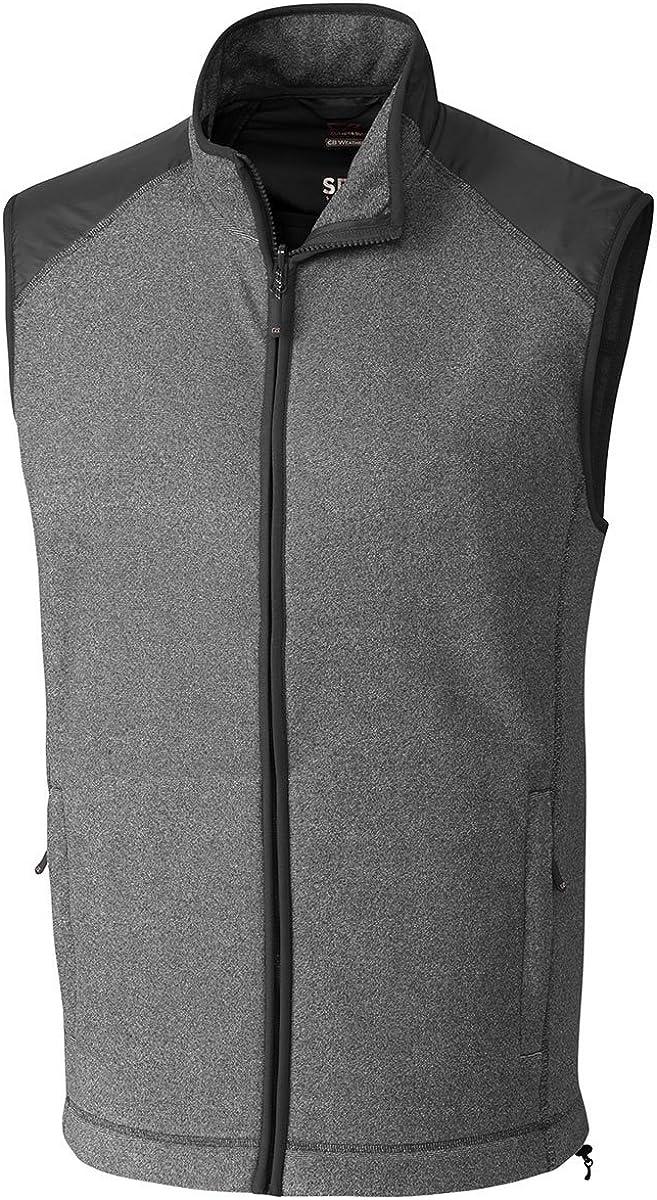 Cutter & Buck Big and Tall Men's Cedar Park Full Zip Vest Charcoal Heather - 3XT