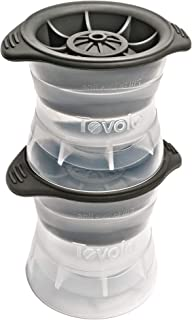 Tovolo Sphere Ice Molds with Tight Silicone Seal, Leak- Free, Slow Melting, Stacking/Stack-able 2.5 Inch Sphere - Set of 2, Perfect for Cocktails, Mocktails & All Beverages, BPA Free, Dishwasher Safe