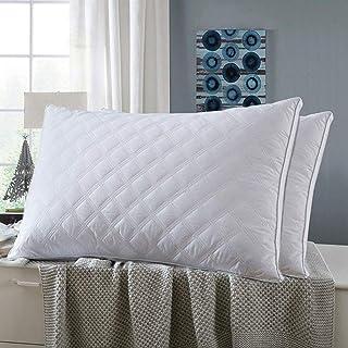 枕 安眠 人気 肩こり 高反発枕 快眠枕 2枚セット 63x43cm 横向き対応 抗菌 防臭 通気性抜群 立体構造 高級ホテル仕様 丸洗い可能 高さ調節可能 ホワイト