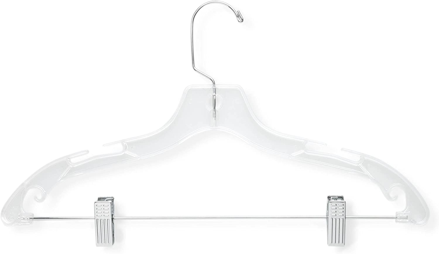 Honey-Can-Do HNGT01194 12 Pack Cheap mail order shopping Suit Hanger C Choice with Crystal Clips