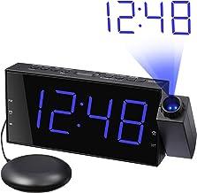 ساعت با صدای بلند با پروانه و تختخواب تختخواب ، نمایشگر بزرگ LED و دیمر ، شارژر USB ، 12/24 H ، ساعت زنگ دار ارتعاشی ارتعاشی برای خواب بزرگ ، ناشنوا ، شنوایی دارای اختلال ، بالش سقف دیواری اتاق خواب