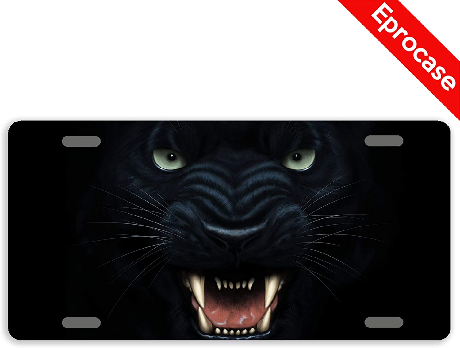 OFFer Eprocase License Plate Angry Deluxe Panther Decorat Cover