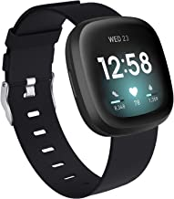 Vitty Bands Compatible with Fitbit Versa 3/Sense for Women and Men, Breathable Woven Fabric Strap, Quick Release, Adjustab...