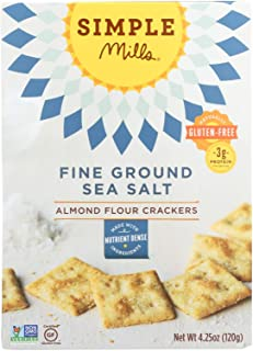 Simple Mills Fine Ground Sea Salt Almond Flour Crackers - Case of 6 - 4.25 oz.