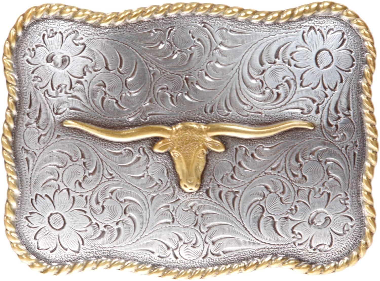 Leather Longhorn Belt Buckle