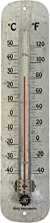 Bjerg Instruments Galvanized Steel Large Outdoor Thermometer 11.65 Inch Wall Thermometer