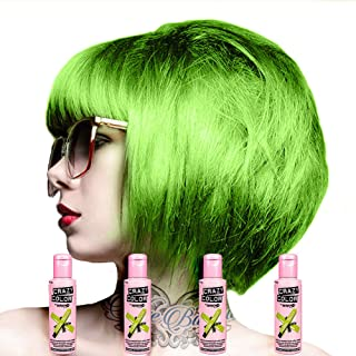 Crazy Color Semi-Permanent Hair Dye 4 Pack 100ml (Lime Twist