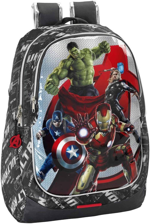 Avengers Rucksack Tasche 32x44x16 Schulrucksack Helden Thor Hulk Iron Man (6)