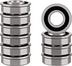 """XiKe 10 Pack Flanged Ball Bearings 5/8"""" x 1-3/8"""" x 1/2"""". Be Applicable Lawn Mower, Wheelbarrows, Carts & Hand Trucks Wheel Hub. Replacement for JD AM118315, AM35443, Stens 215-038, 215-061 Etc."""
