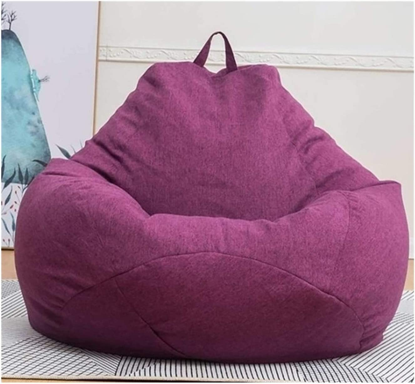 BXJPN Lazy BeanBag Sofas Cover Without Linen Cloth Filler online shopping Chairs Free Shipping New