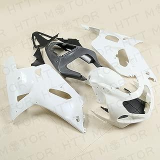 Bodywork White Fairing Kit Unpainted ABS for SUZUKI GSXR 600 /750 2001 2002 2003