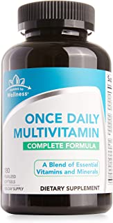 Once Daily Multivitamin for Adults – Complete Multi Vitamin Formula with Vitamins A, C, E, B1, B2, B3, B5, B6, B12 and D3 - 180 Count (180 Day Supply)