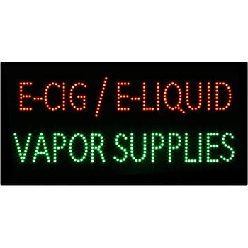LED Vape Vapor Shop Open Light Sign Super Bright Electric Advertising Display Board for Vaporizer Store Hookah Lounge Vapor Bar Smoke Shop Business Shop Store Window 36 x 24 inches
