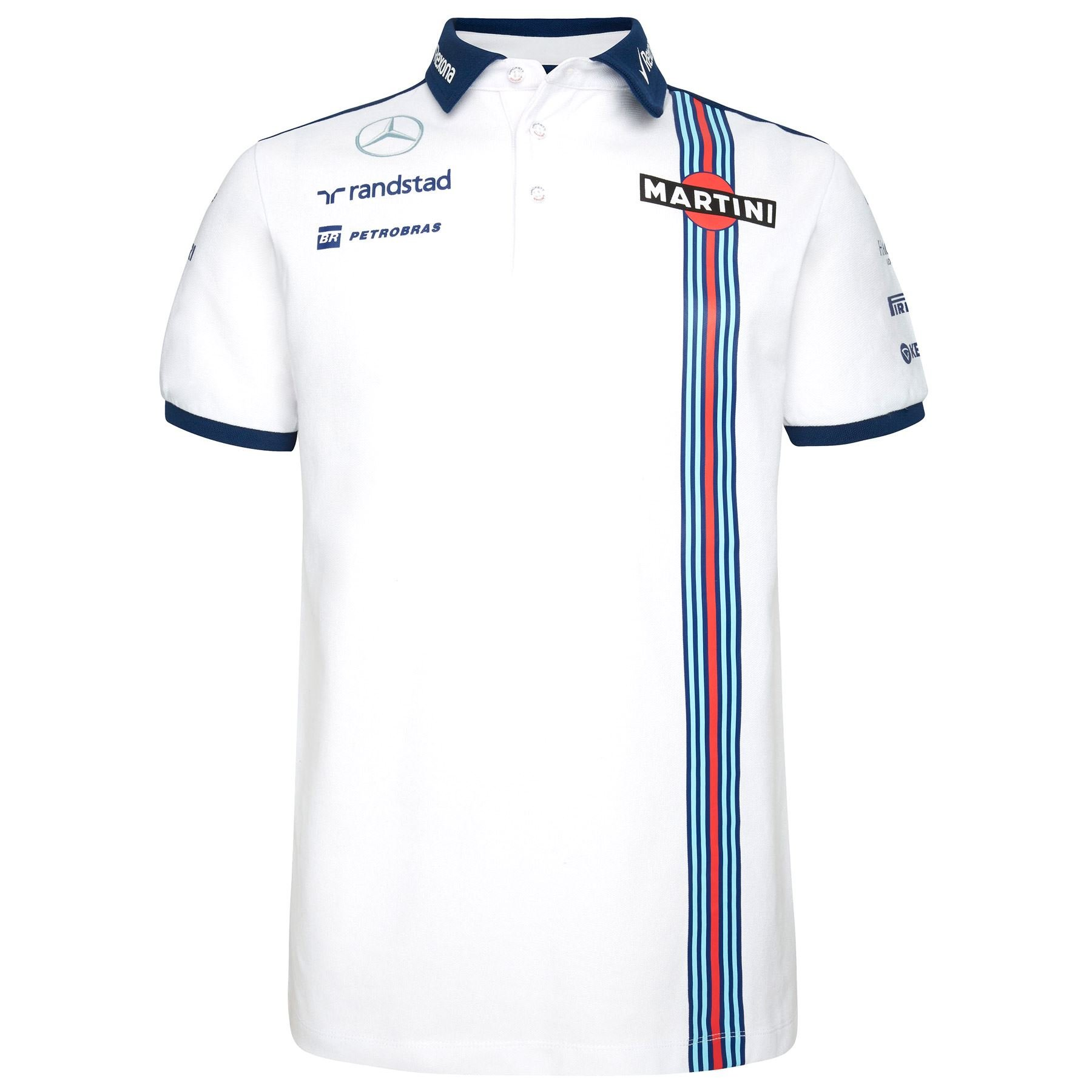 Williams Martini Racing F1 Team Replica Polo Camiseta, fórmula 1 ...