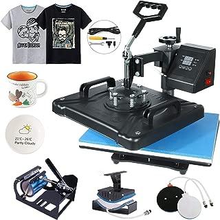 EOSAGA Heat Press 12×15 Heat Press Machine 5 in 1 Digital Multifunctional Sublimation Swing Away Heat Press for T Shirts Hat Mug Cap Plate (12