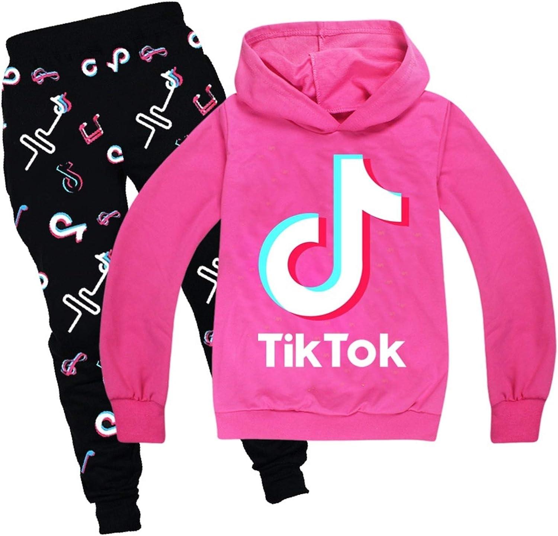 Tik Tok Hoodies Hosen Set Cooles Sweatshirt Unisex Jogginghose Kleidung Set Hosen,A,100cm